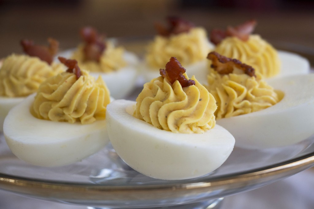 bacon-ranch deviled eggs