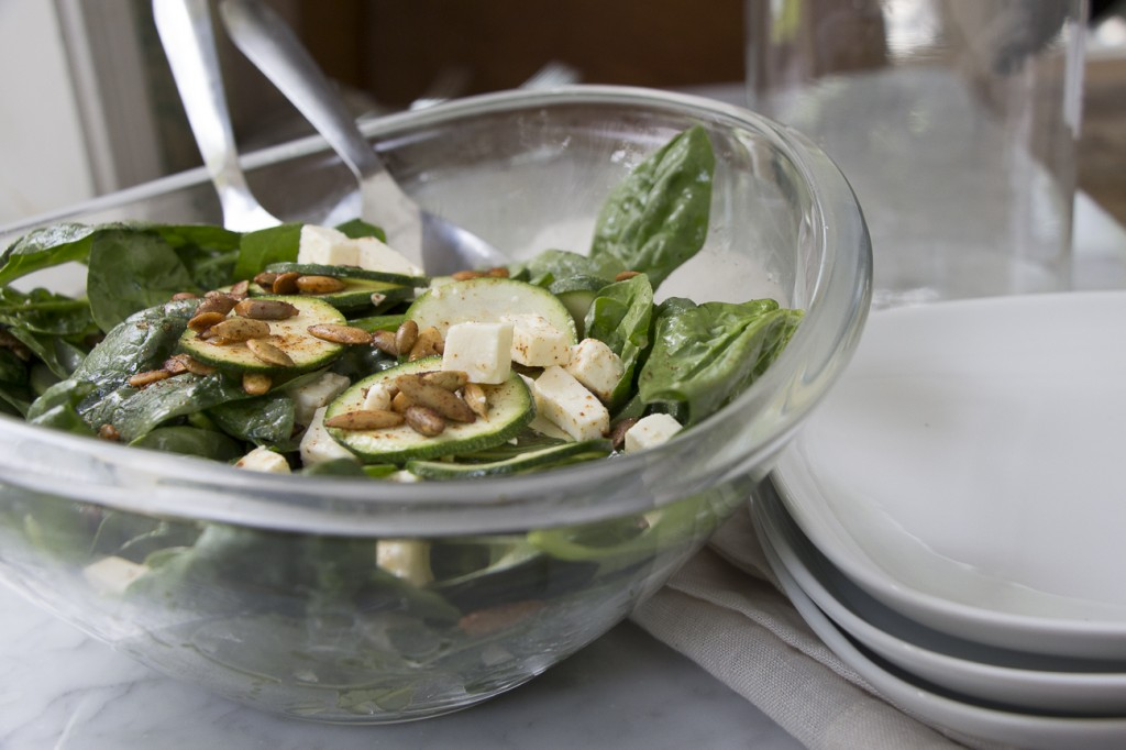 Spinach and Zucchini Salad